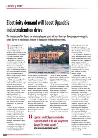 Electricity demand will boost Uganda�s industrialisation drive