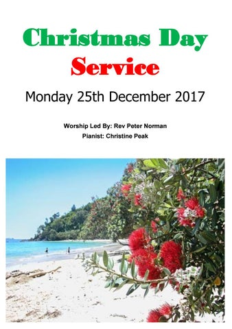 Takapuna Methodist Church Bulletin 25th December 2017 - Christmas Day