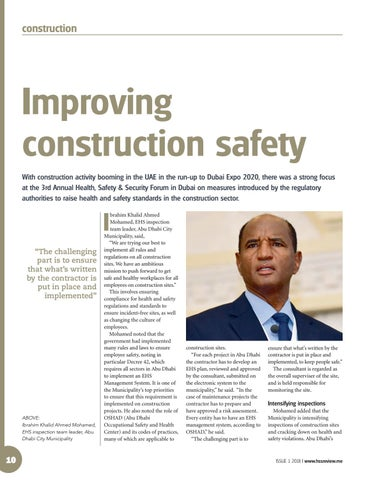 Improving construction safety