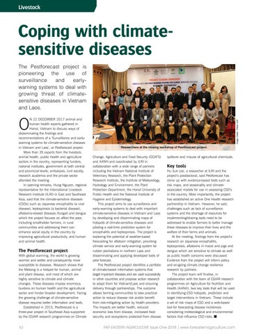 Coping with climate sensitive diseases