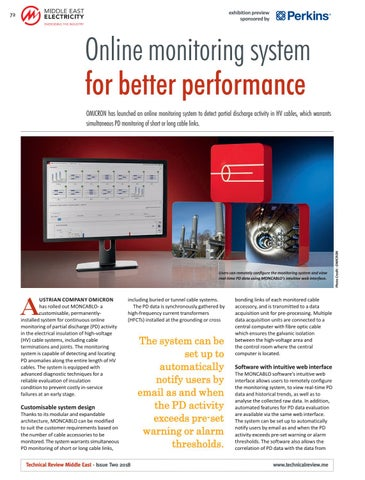 Online monitoring system for better performance