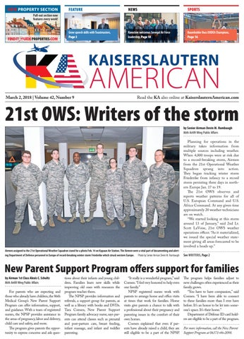 Kaiserslautern American, March 2, 2018
