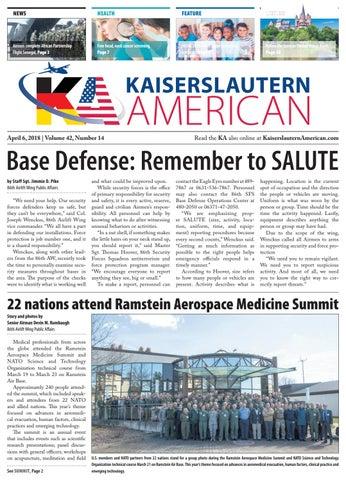 Kaiserslautern American, April 6, 2018