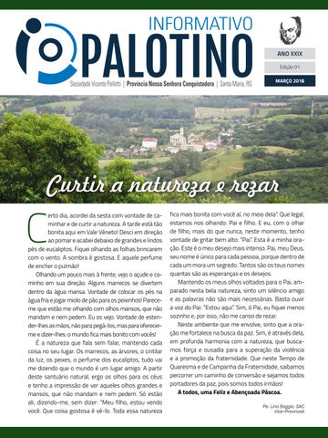 Informativo Palotino Março 2018 Sociedade Vicente Pallotti - Província Nossa Senhora Conquistadora - Santa Maria - RS