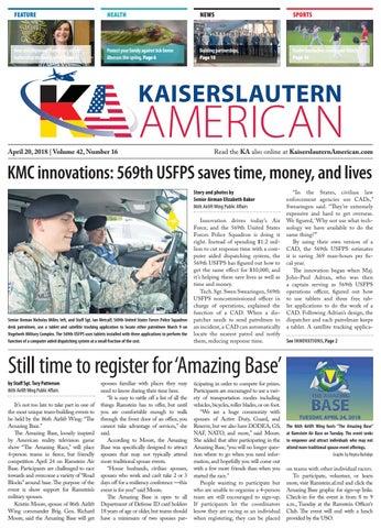 Kaiserslautern American, April 20, 2018