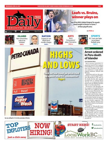 Vancouver Island Free Daily, April 25, 2018