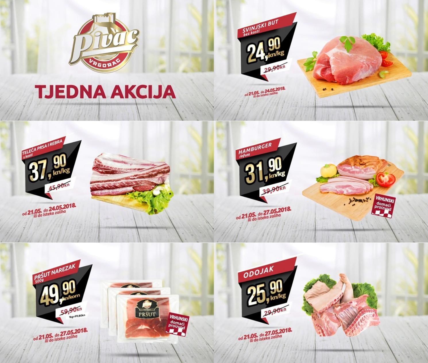 Nova tjedna akcija od 21.- 27.05.2018. u Pivac prodajnim centrima!