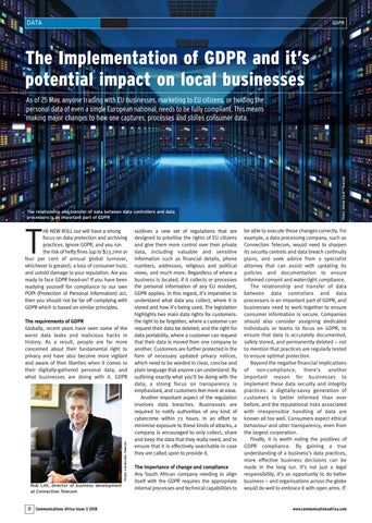 Implementation of GDPR and it's impact on local businesses