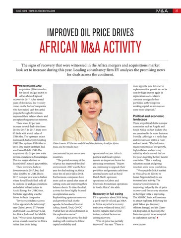 Improved oil price drives African M&A activity