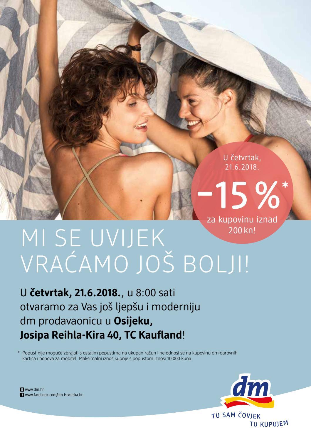 U četvrtak, 21.6.2018., u 8:00 sati otvaramo za Vas još ljepšu i moderniju dm prodavaonicu Osijeku, J.R. Kira 40, TC Kaufland!