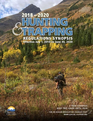 2018-2020 Hunting And Trapping