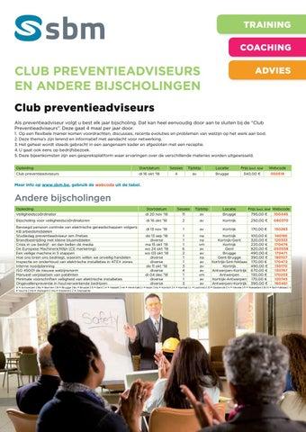 SBM Club preventie en andere bijscholingen najaar 2018