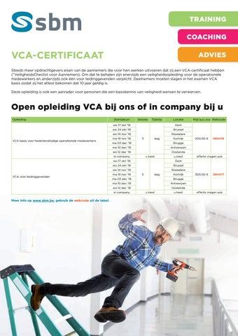 SBM VCA certificaat najaar 2018