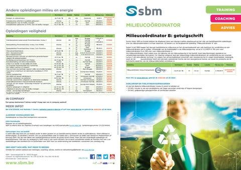 SBM Milieucoordinator najaar 2018