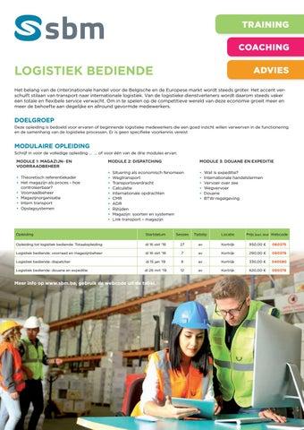 SBM Logistiek bediende najaar 2018