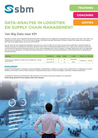 SBM Data analyse in logistiek najaar 2018