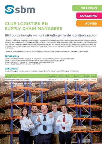 SBM Club logistiek en supply chain najaar 2018