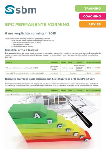 SBM EPC permanente vorming najaar 2018