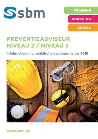 SBM Preventieadviseur niveau 2 of niveau 3 najaar 2018