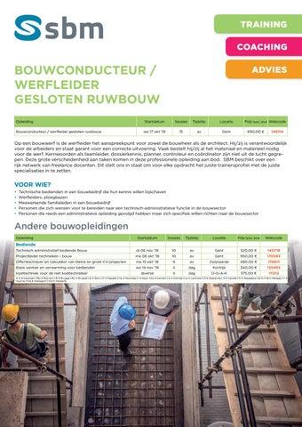 SBM Bouwconducteur ruwbouw najaar 2018