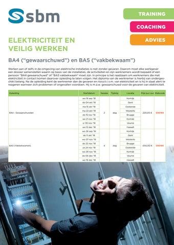 SBM Elektriciteit en veilig werken ba4 ba5 najaar 2018