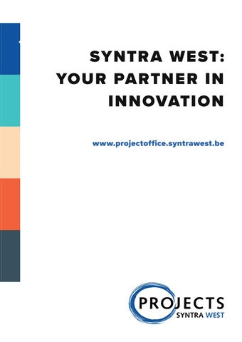 Syntra west projectbureau najaar 2018