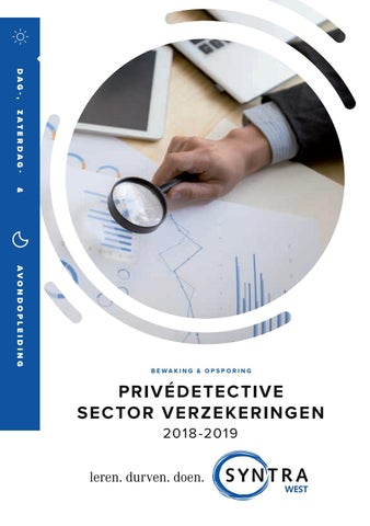 Syntra West privedetective verzekeringen najaar 2018
