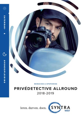 Syntra West privedetective allround najaar 2018
