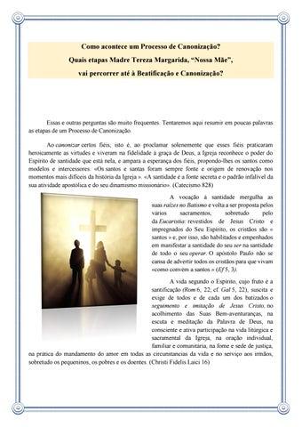 [Como acontece um Processo de Canonização?]