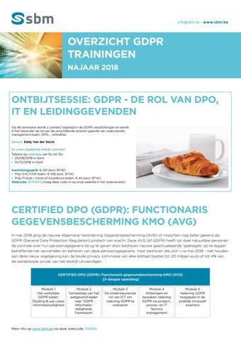 SBM GDPR trainingen najaar 2018