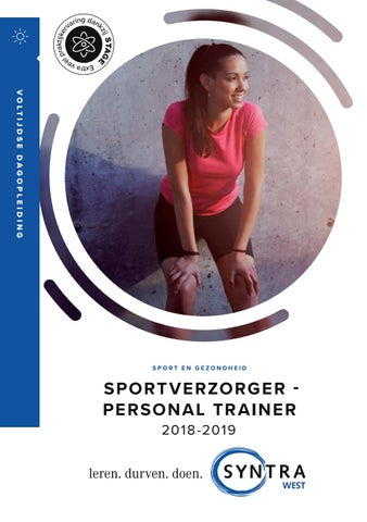 Syntra West Sportverzorger personal trainer najaar 2018