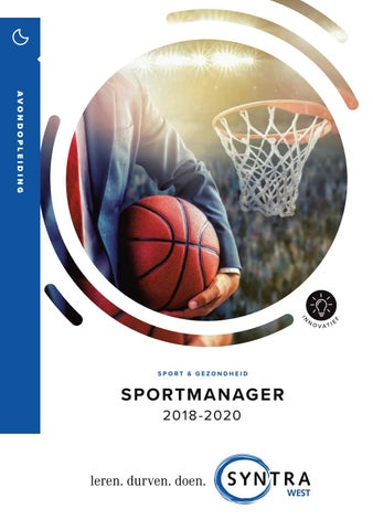 Syntra West sportmanager najaar 2018