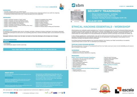 SBM Ethical hacking najaar 2018