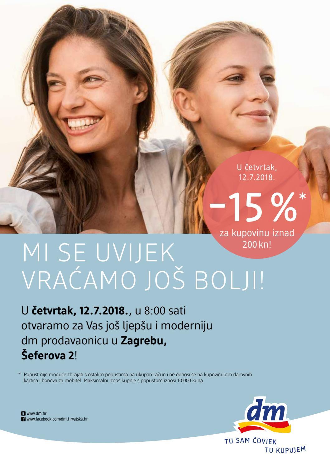 U četvrtak, 12.7.2018., u 8:00 sati otvaramo za Vas još ljepšu i moderniju dm prodavaonicu u Zagrebu, Šeferova 2!