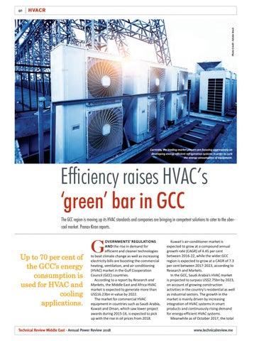 Efficiency raises HVAC�s �green� bar in GCC