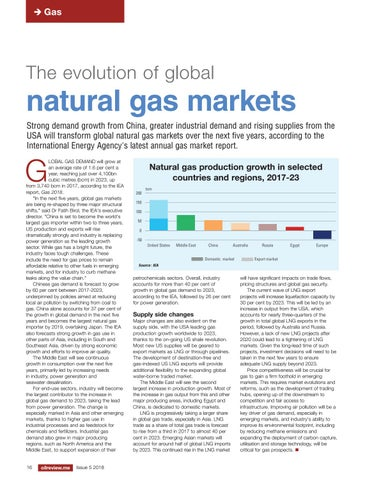 The evolution of global natural gas markets