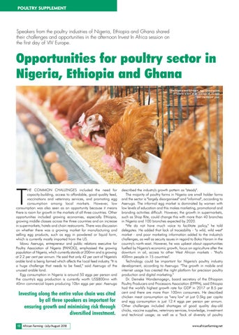 Opportunities for poultry sector in Nigeria, Ethiopia and Ghana