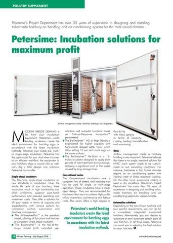 Petersime: Incubation solutions for maximum profit