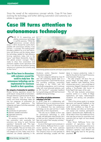 Case IH turns attention to autonomous technology