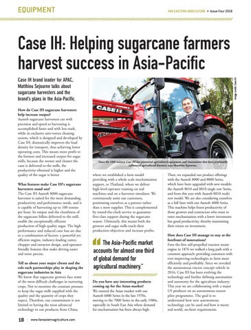 Case IH: Helping sugarcane farmers harvest success in Asia-Pacific