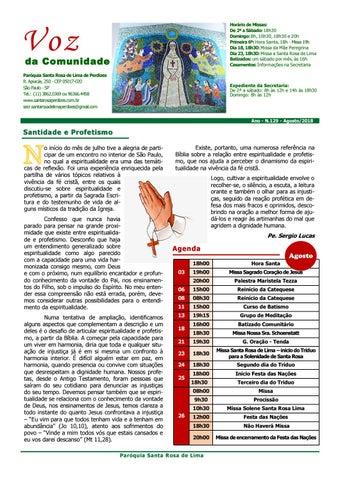 [Jornal Santa Rosa de Lima – Agosto 2018]