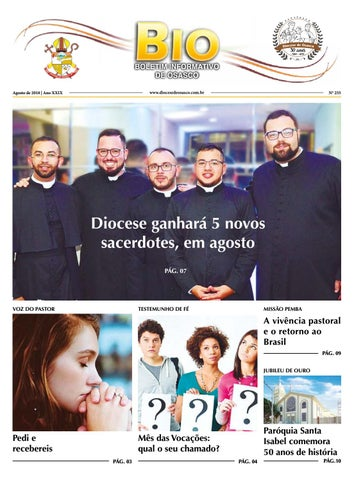 [BIO Diocesano – Agosto 2018]