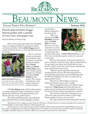 Beaumont News Summer 2018