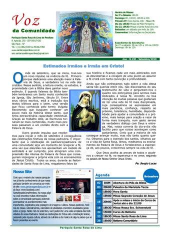 [Jornal Santa Rosa de Lima – Setembro 2018]