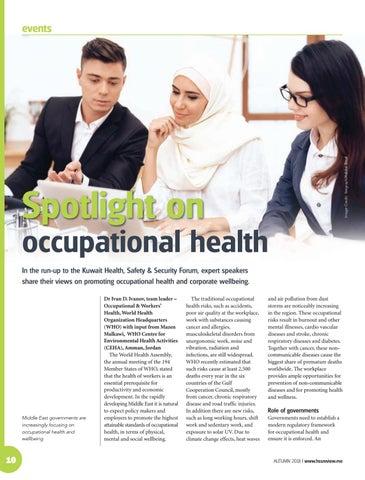 Spotlight on occupational health