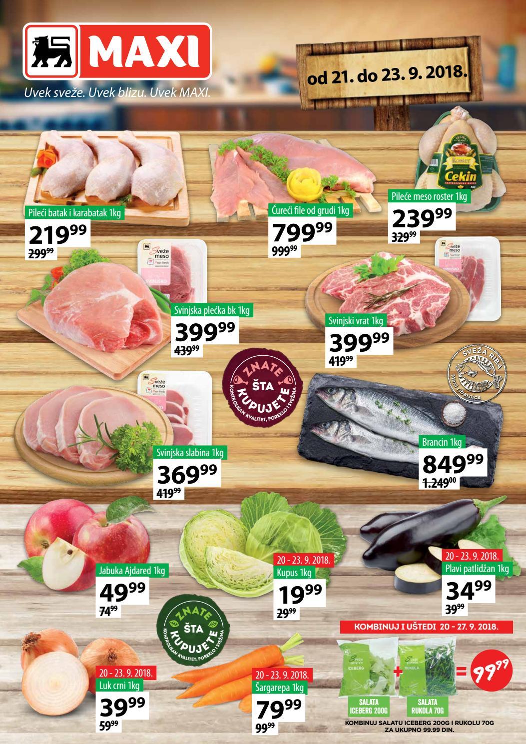 I ovog vikenda iskoristite nova sniženja od 21.- 23.09.2018. u MAXI supermarketima.