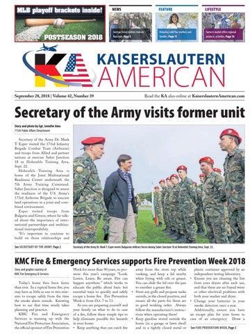 Kaiserslautern American, September 28, 2018