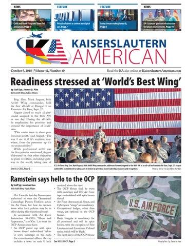 Kaiserslautern American, October 5, 2018