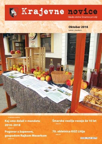 Krajevne novice oktober 2018 (letnik 3, št.6)
