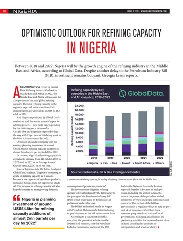 OPTIMISTIC OUTLOOK FOR REFINING CAPACITY IN NIGERIA